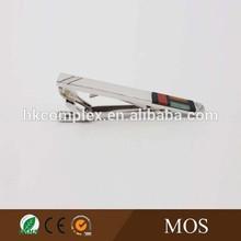Fashion metal blank rhodium jewelry tie clips