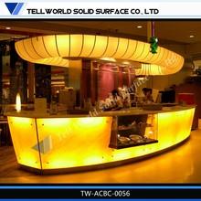 Fancy style hot sale modern design led bar top