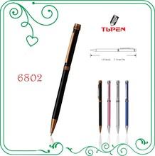 black color metal Aluminum barrel ball pen,smooth writing ink refill 6802