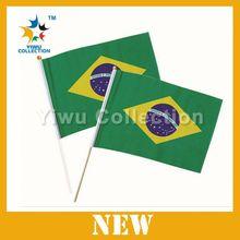 world cup brazil car flag,custom wholesale car flags,3'x5' marine double sided 210d nylon flag