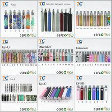 Wholesale china Factory OEM pattern/ leather e cigarette best ego battery,ecig ego t battery, logo custom e cigarette battery