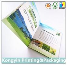 Custom accordion fold folding brochures printing for building,company advertising tri fold brochures printing