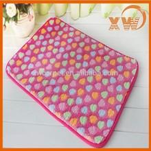 home textile comfortable polyester fiber latex backing soft foam mat