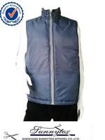 Sunnytex mens sleeveless simple cheap padded waistcoat for men design