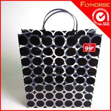 high quality cheap cute recycle printed custom brown kraft paper shopping bag