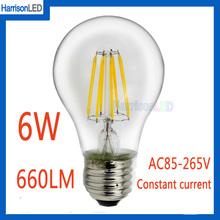 shenzhen high lumen 110v 120v 220v 4W 6W LED filament bulb light