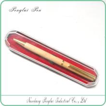 Hot selling gift wooden pen/OEM wooden pen in box
