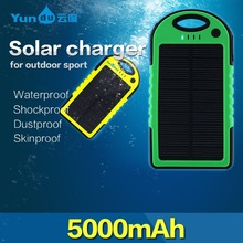Private Label Solar Power Bank Portable Mobile Phone Charger 5000mAh Battery