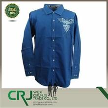Crj camisa dos homens, v407ltbl luz azul