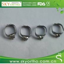 orthodontic molar bands dental band attached with buccal tube