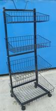 vivinature storage basket storage trolley with wheels