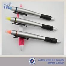 Stylish ballpoint pen coloured highlighter pen