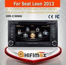 Hifimax araba dvd gps navigasyon sistemi seat leon ile 2013 a8 yonga çift çekirdekli 1080p v-20 disk wifi 3g İnternet dvr