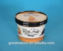 Paper ice cream frozen yogurt tubs and lids