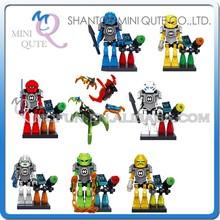 Mini Qute XSZ 8pcs/set plastic Change robot scale models super hero boys building blocks action figures educational toy NO.311
