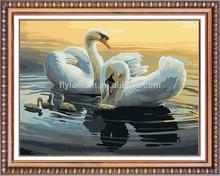 2015 swans diy diamond painting 3d (40*50cm)