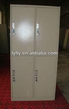 4 compartment metal locker