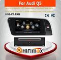 Hifimax de dvd del coche de audio sistema de navegación para audi q5 2009-2013 a8 con chipset dual core 1080p v-20 disco wifi 3g dvr de internet