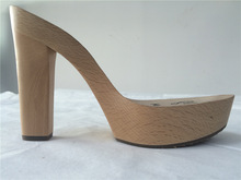 madera sexy zapatos de tacón alto sandalias simple suelas de madera popular suelas de zapatos