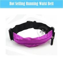 Hot Sale Fashion Many Color Elastic Running Waist Belt Fitness Workout Flip Belt o6015-6