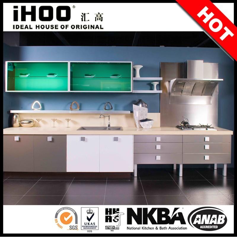 Hete verkoop lak keukenkast modulaire keuken kast glazen deuren keuken kasten product id - D co keuken ...