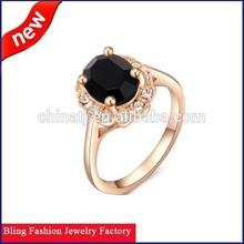 2015 Fashion Jewelry Gold Plated Crystal Green Diamond Rhinestone Ring