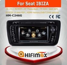 Hifimax araba dvd gps navigasyon sistemi seat ibiza 2009-2013 ile a8 yonga çift çekirdekli 1080p v-20 disk wifi 3g İnternet dvr