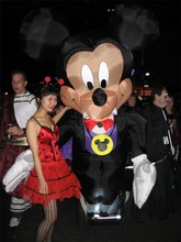 Inflatable mickey mouse Halloween decoration with lights
