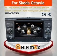 HIFIMAX car dvd gps navigation system FOR SKODA OCTAVIA with A8 CHIPSET DUAL CORE 1080P V-20 DISC WIFI 3G INTERNET DVR
