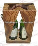 unique natural wooden wine case for sale