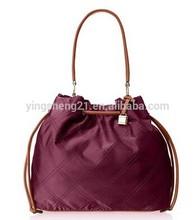 Women's Nylon Quilted Nylon Shoulder Bag drawstring closure bag Tote Bag
