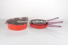 Korea style Die-casting aluminum ceramic cookware sets,frying pan,casserole,wolk pan
