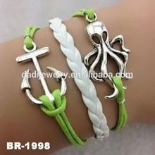 2015 Fashion Bracelets Wholesale 3 Layers Animal Charm Friendship Bangle