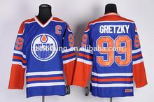 Edmontonn Oilers #99 Wayne Gretzky Ice Hockey Jersey