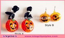 Light up pumpkin Easter led necklace earring set promotion gift
