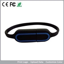 free sample bracelet silicon/pvc PMS color 8g customized logo promotional thumb usb