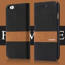 FLOVEME Fabric Textile PU Leather Case For iPhone 6 Cover Magnetic Phone Case Flip Leather Case For iPhone 6