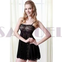 ph9068 black sheer negligee sexy girls inner wear babydoll