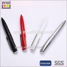 small MOQ silver shiny plastic metal cheap ballpoint pen