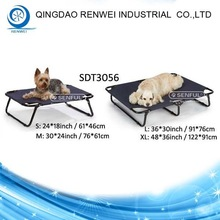 Small Elevated Pet Cot Steel-Framed Pet Dog Bed Removable Washable