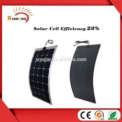2015 Hot Sell 23% Sunpower brand Semi Flexible Solar Panel 100w