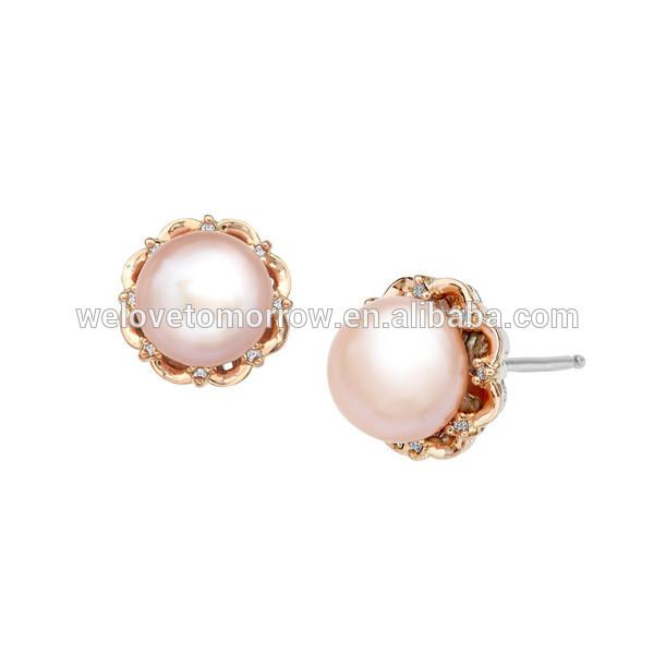 Pearl Stud Earrings Wholesale Freshwater Pearl Stud Earrings