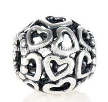Super quality stylish wholesale enamel silver charm