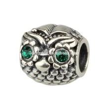 Wholesale Wise Owl 925 Sterling Silver Charm Jewelry for European Bracelet