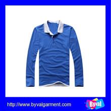 OEM custom cheap long sleeve polo shirt online shopping blank bulk polo shirt china manufacture