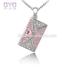 Austrian crystal pendant necklace love story full of crystal