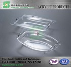 Taiwan OEM transparent acrylic tray with cover