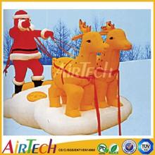 Top level inflatable christmas santa decoration,christmas decorations