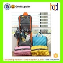 China supplier wholesale large capacicy waterproof nylon travel makeup organizer