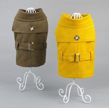 New design green korea style guardian gear manufacturer dog wool coat